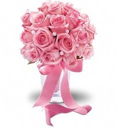 FDH Pink Sorbet Bouquet :- Pink-redible! This glamorous, girly bouquet of pink roses is dressed up with corsage pins and wrapped with pink satin ribbon. A generous array of pink roses wrapped with pink satin ribbon.