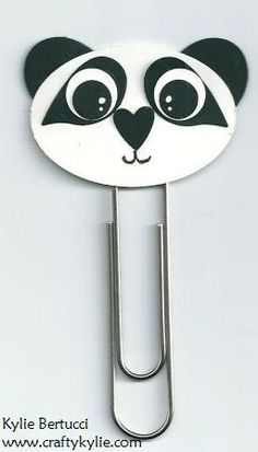 Panda Paper Clip Bookmark - punch art