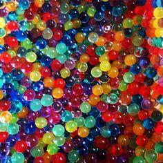 In one room of my house the floor is going to be covered with orbeez