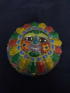 Mexican Talevera Clay Pottery Candy Dish
