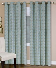 """Elrene Faye 52"""" x 95"""" Panel - Extra-Long Curtains - For The Home - Macy's"""