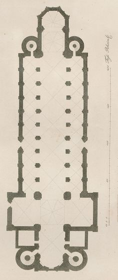 Worms Cathedral plan, Worms, Germany