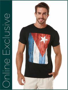 Short Sleeve Cuba Flag Crew www.Cubavera.com