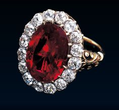Queen Marie José Royal Ruby Ring, Circa 1870. Gift of Tammaro de Marinis to then Princess Marie-José of Belgium upon her marriage to the Prince of Piedmont, future Umberto II.