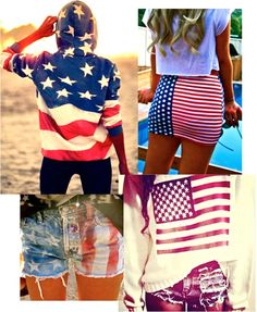 Summer style- love it! minus the american flag bodycon skirt :-p