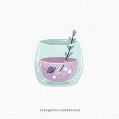Cute Illustration, Watercolor Illustration, Digital Illustration, Watercolor Art, Collage Techniques, Book Of Shadows, Illustrations, Cute Art, Art Inspo