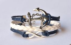 Hey, I found this really awesome Etsy listing at https://www.etsy.com/listing/204918956/infinity-bracelet-sliver-infinity-anchor