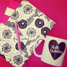 Awesome planners and mug from design partner @clairebella!