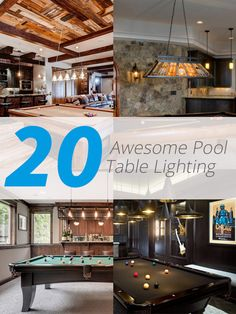 20 Awesome Pool Table Lighting, Game rooms are something not all houses have. This is basically something that some families prefer to encourage their kids or the family to really ha. Pool Table Lighting, Cool Lighting, Pool Tables, Small Basement Remodel, Basement Remodeling, Basement Ideas, Get Rid Of Mold, Bathroom Plans, Recessed Ceiling