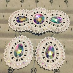 Beaded barrette and earring set