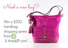 thredUP $500 Free Handbag Shopping Spree! - http://www.mommygreenest.com/thredup-500-free-handbag-shopping-spree-giveaway/