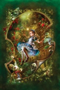 Alice in Wonderland - 1000pc Story Book Box Jigsaw Puzzle by Masterpieces