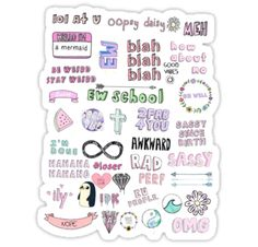 "Tumblr Transparent Collage"" Stickers by internetokay 
