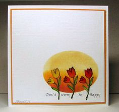 CAS105 Be Happy by Biggan - Cards and Paper Crafts at Splitcoaststampers