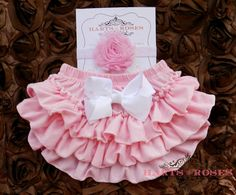 Pink Ruffle Baby Bloomers with FREE Headband Beautiful Children, Beautiful Babies, Little Girl Fashion, Kids Fashion, Ruffle Bloomers, Baby Blessing, Baby Couture, Daddys Little Girls, Baby Cover