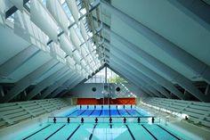 Batyline Aw reveals its acoustic qualities at Aqua-life, Zurich - Serge Ferrari Ferrari, Swimming Pools, Aqua, Construction, High Energy, Continue Reading, Building, Heart, Design