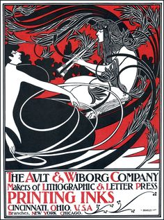 The Ault & Wiborg Company poster — WIlliam H. Bradley (1900)