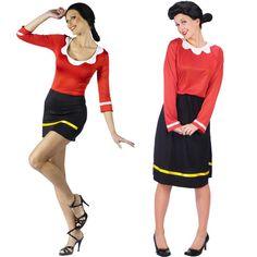 popeye olive oyl costume h a l l o w e e n pinterest. Black Bedroom Furniture Sets. Home Design Ideas