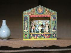 Dominique Autin miniature theatre, via Recreation Miniature blog, Elisabeth Causeret vase