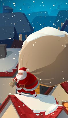 Santa ★ Find more Seasonal wallpapers for your #iPhone + #Android…