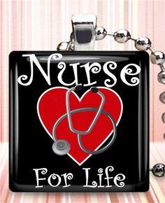 Nurse For Life Necklace by iloverocks, $9.95
