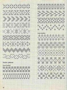 "Photo from album ""Alice Starmore Book of Fair Isle Knitting"" on Yandex. Fair Isle Knitting Patterns, Fair Isle Pattern, Knitting Charts, Knitting Stitches, Baby Knitting, Vintage Knitting, Loom Knitting, Free Knitting, Cross Stitch Borders"