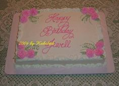 Covered Roses Cake | make roses you can create this simple, easy to do, 12x18x2 sheet cake ...