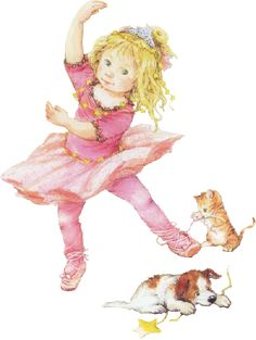 A little princess with her kitten & puppy.   Lisi Martin