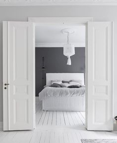 Immy and Indi is is an Australian homewares store stocking the best Scandinavian style homewares to decorate your home. All White Bedroom, White Rooms, Dream Bedroom, Scandinavian Interior Design, Scandinavian Home, Home Interior, Black And White Interior, Ideas Hogar, Moving House