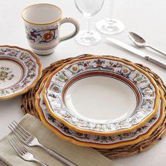Deruta-Style 16-Piece Dinnerware Set   Sur La Table