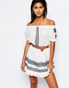 Image 1 of Tularosa Off Shoulder Baxter Dress with Embroidery