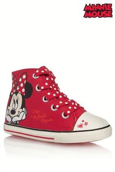 Buy Minnie Mouse™ Hi Top (Younger Girls) from the Next UK online shop 👭👟😍💗👭 Next Uk, Uk Online, My Children, Daughters, Converse Chuck Taylor, High Top Sneakers, Woman, Disney, Girls
