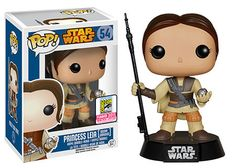 Star Wars, Princess Leia Boussh unmasked, Pop! figure by Funko. San Diego Comic Con 2015 exclusive.