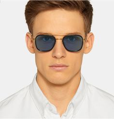Thom Browne - Acetate Aviator Sunglasses|MR PORTER