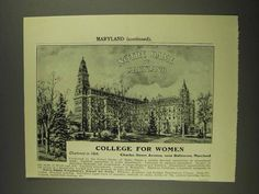 1908 Notre Dame of Maryland Ad - College for Women   here is an old ad for the College