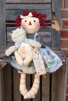 Raggedy Ann Doll with Frog Prince pattern. $5,50, via Etsy.