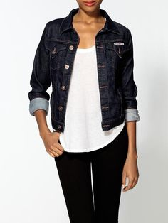 5074433c1b03 11 Best Dark denim jacket outfits images in 2018 | Jackets, Clothing ...