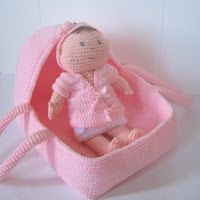 CROCHET N PLAY DESIGNS: New Crochet Pattern: Baby Doll Carrier & Portable Bassinet