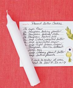 Rub a candle over recipe cards...the wax will protect your recipe from spills!