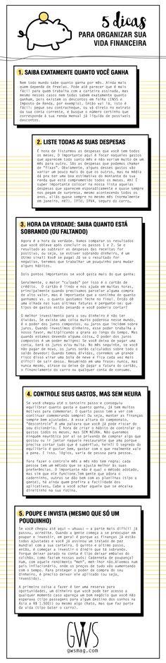COMO ORGANIZAR SUAS FINANÇAS EM 5 PASSOS