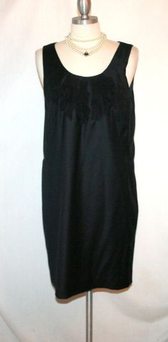 "J. Crew ""Petale"" Black Super 120's Wool Dress Sz 4 New without Tags #JCrew #Shift #LittleBlackDress"