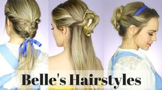All the beauty and the beast hairstyles from Disney's new live action movie with Emma Watson. Now you can see a hair tutorial on how to do all the styles fro...