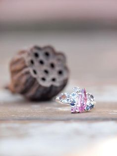 Wild Berries // Unicorn Cluster RingWild Berries // Unicorn Cluster Ring. This artisan gemstone cluster ring is completely one of a kind. Features pink tourmaline, tanzanite, sapphire and moonstone for a forest berries color palette.