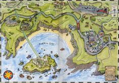Karte von Kirrin - Dank an Paulo...Kirrin Island fan art map