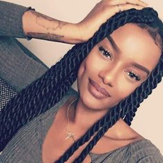 Rope-Twist and Laid Baby Hair! For Honest Bundle Hair Twist Braid Hairstyles, My Hairstyle, Girl Hairstyles, Braided Hairstyles, Black Girl Braids, Girls Braids, Curly Hair Styles, Natural Hair Styles, Twisted Hair
