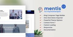 Mentis Psychotherapist responsive HTML template #webdesign #website #design #responsive #besttemplates #template #SiteTemplates #Retail #HealthBeauty