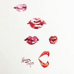 #100daysofportraits #day74 #laurentaylorcreates #lipstudy #inmysketchbook
