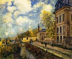 The Factory at Sevres, 1879 by Alfred Sisley. Impressionism. cityscape