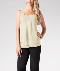 Feminine and just a little bit sporty, this pretty lined Denver Hayes tank top has tulip-style layers at the front for a softly draped design. | Mark's Work Wearhouse, Yorkton