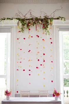 Wedding Planners - a wedding backdrop can be simple and colorful ~ Style Me Pretty